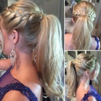 Wrap-Around French Braid Ponytail