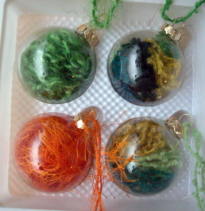 Yarn Stash Glass Ornaments