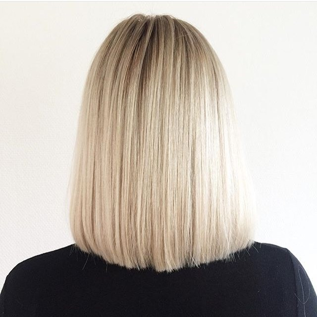 back-view-of-straight-long-bob-lob-hairstyle - Pretty Designs