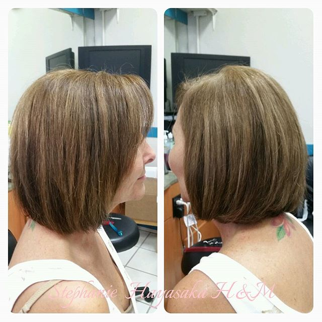Easy daily bob hairstyle for older women