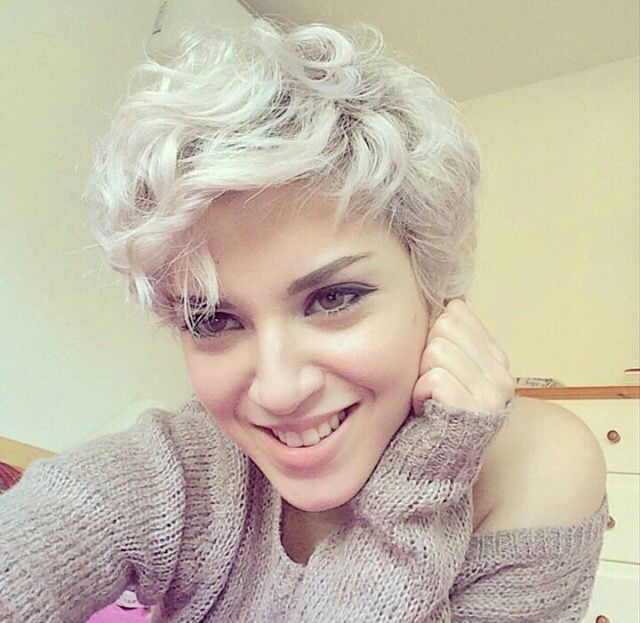 cute curly pixie haircut