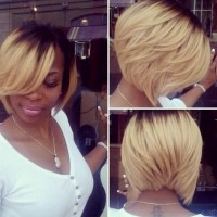 dark-to-blonde-ombre-bob-hairstyle-for-black-women-with-thick-hair