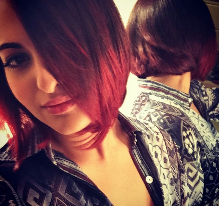 dark to red ombre bob hairstyle for thick hair