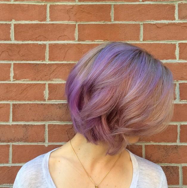 21 prachtige pastel paarse kapsels Haarkleur  Haarkleurideeën