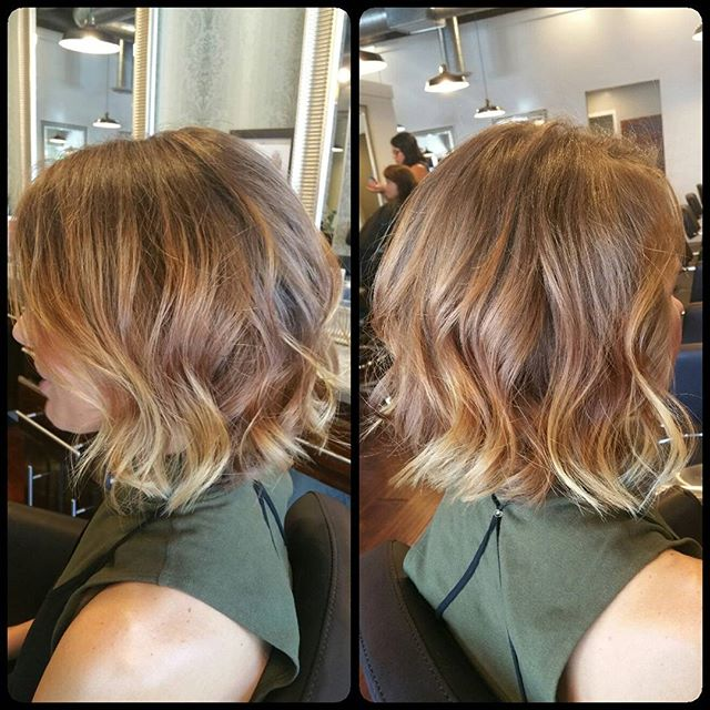 layered messy bob hairstyle for thick hair