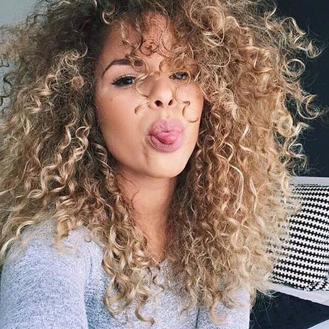 Exceptional Long Curly Hairstyle   Permed Hairstyles