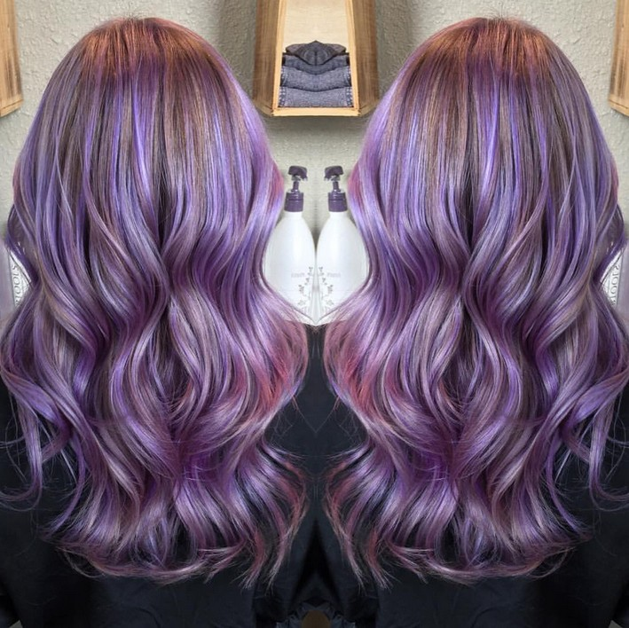 Hairstyles light purple hairstyles hair trend 2017 pmusecretfo Images