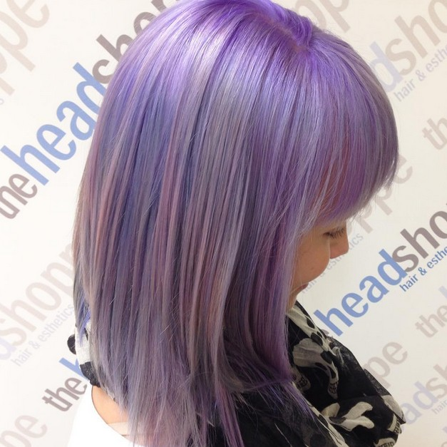 Swell 21 Gorgeous Pastel Purple Hairstyles Pretty Designs Hairstyles For Women Draintrainus