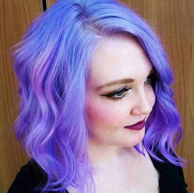 pastel purple hairstyles - hair color ideas