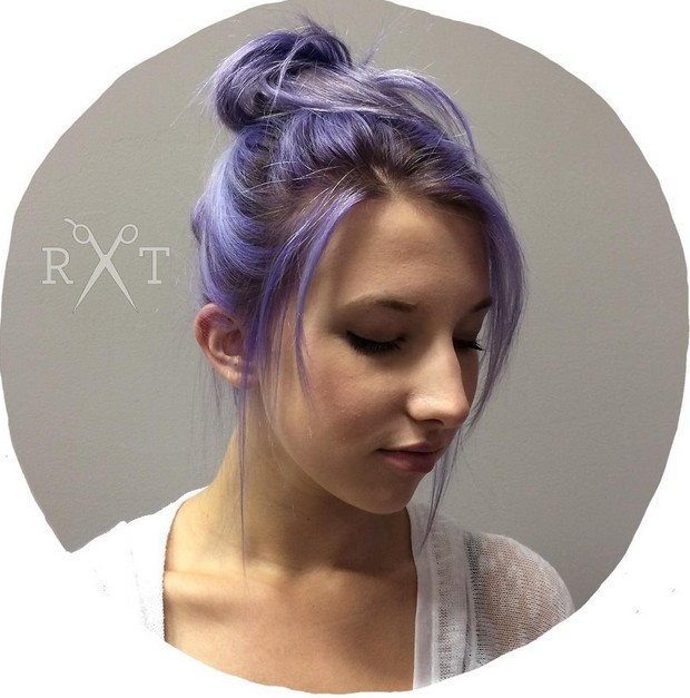 pastel purple updo