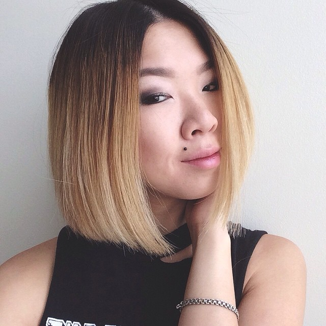 popular dark to blonde ombre bob hairstyle for women