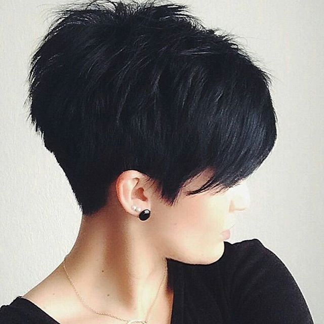 short black haircut - pixie cut for women