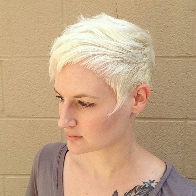 short blonde pixie cut for fine thin hair