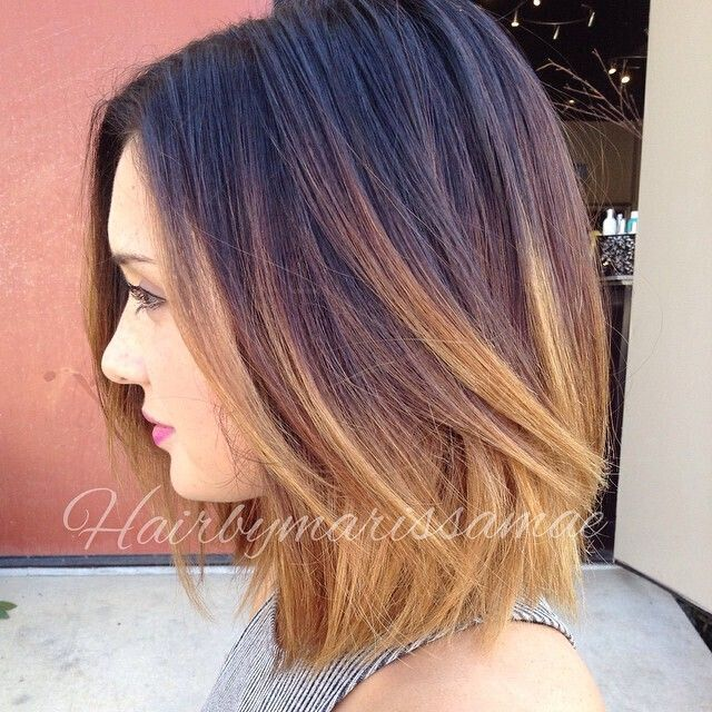 short ombre bob hair style for summer