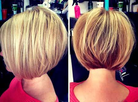 short straight stacked bob cut for medium and thick hair