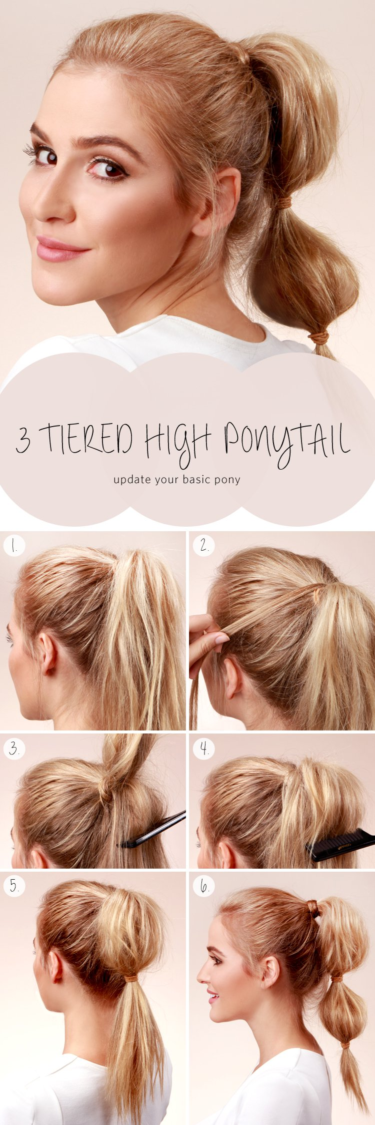 3-Tiered High Ponytail