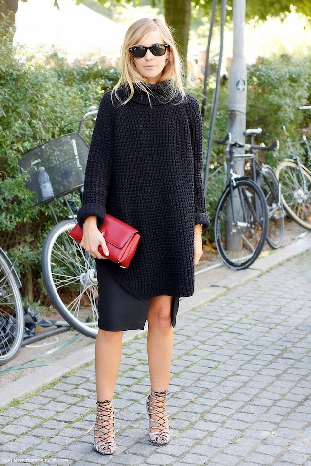 Black Outfit with Cage Shoes