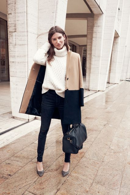 Black and Camel Coat