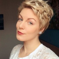 Blond Curly Pixie Hairstyle