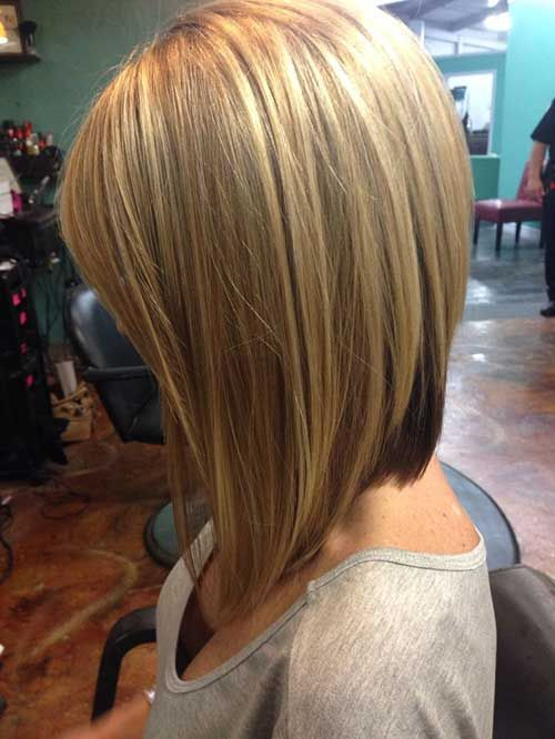 Blond Long Bob Hairstyle
