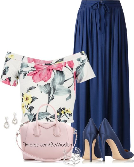 Blue Skirt Outfit