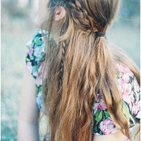 Boho-Chic Half Up Braid Hairstyle