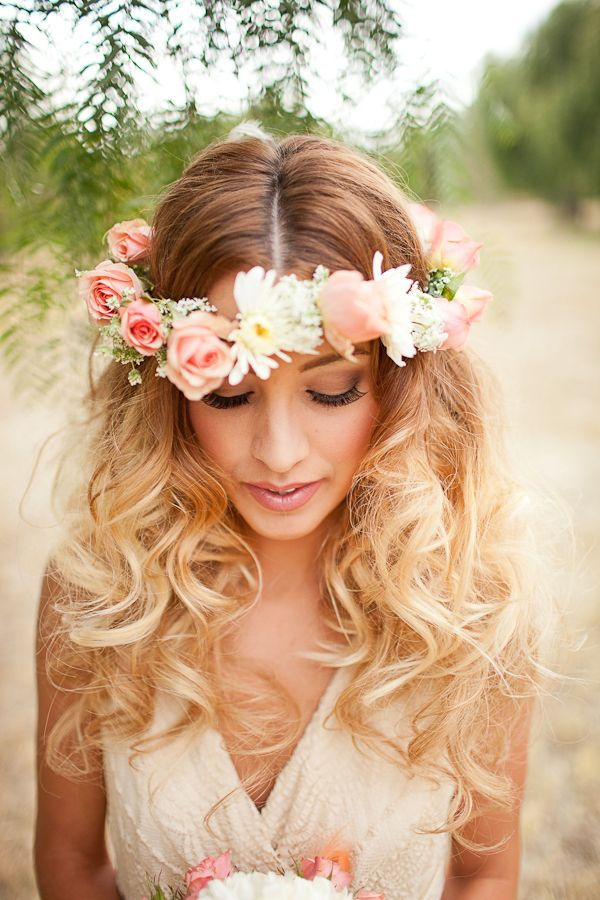 Boho Chic Wedding Hairstyle