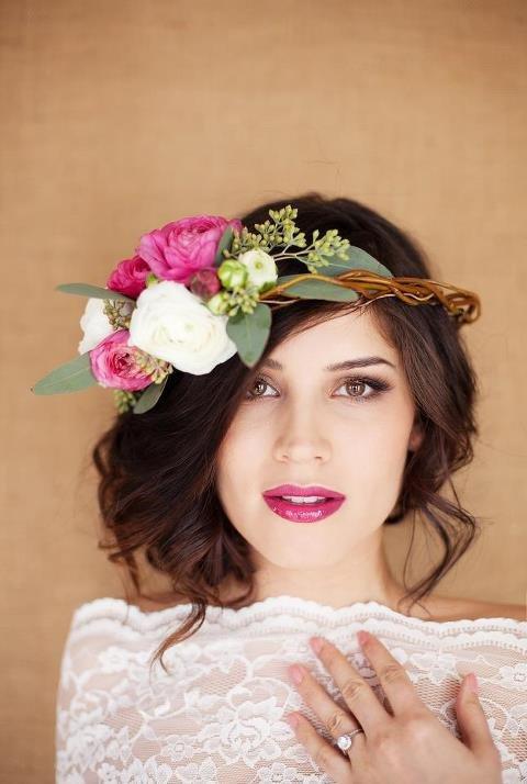 Boho-Chic Wedding Hairstyle