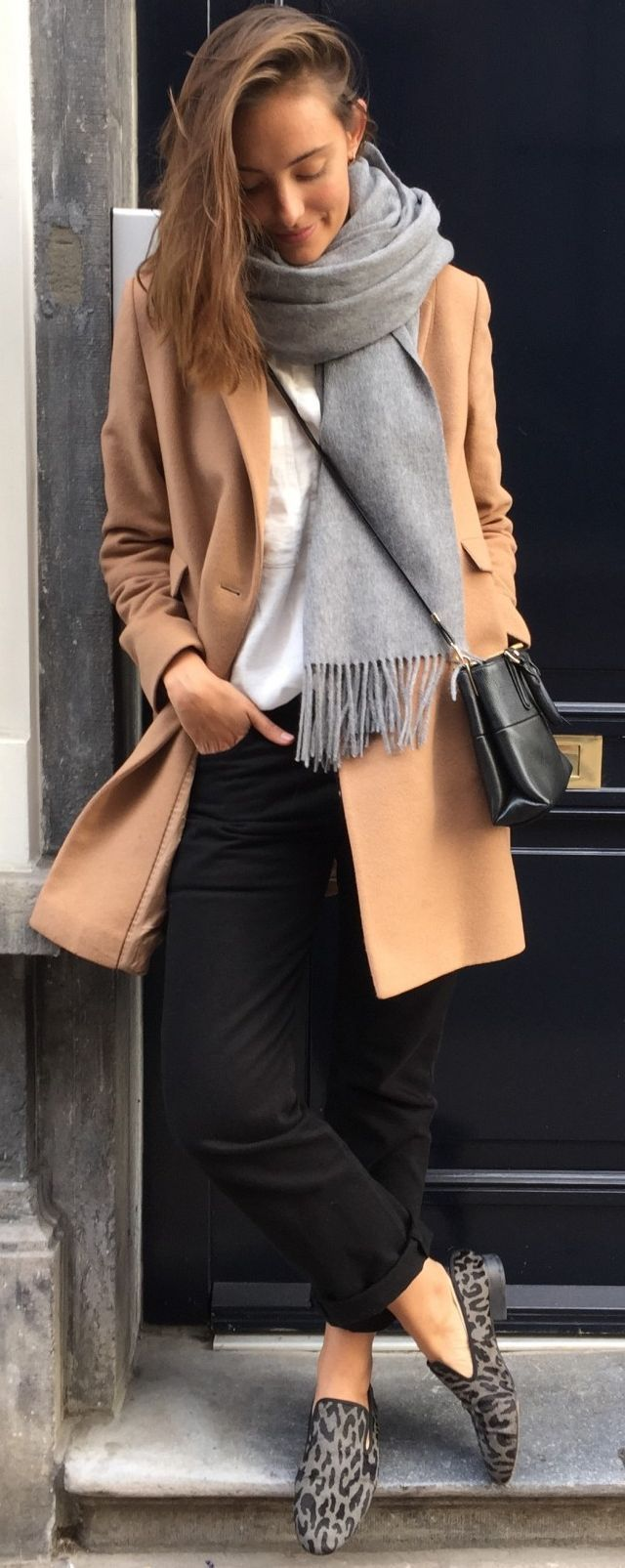 Camel Coat Fall Street Style