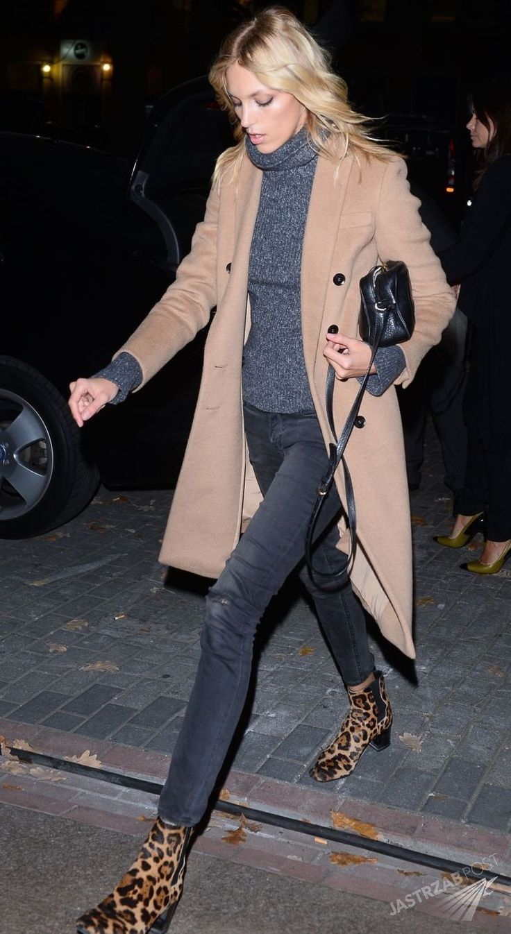 Camel Coat and Animal Booties