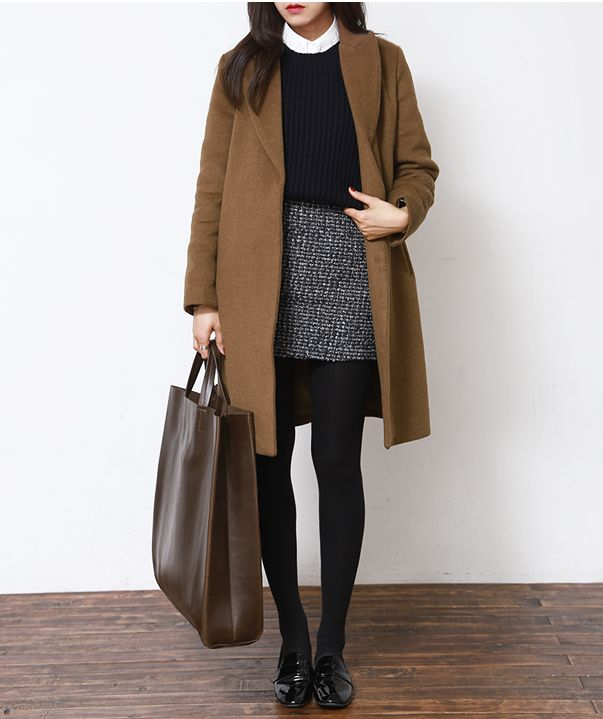 Camel Coat and Black Basic