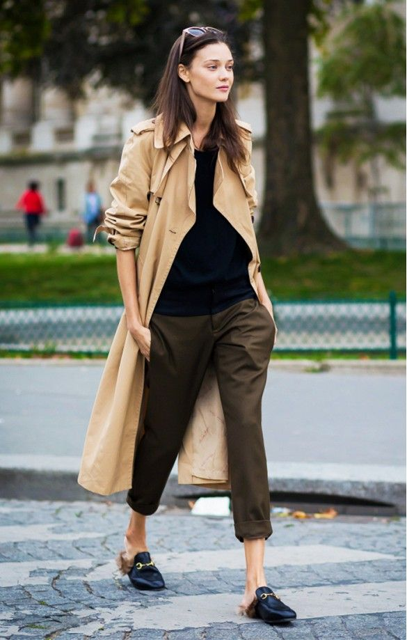 Camel Jacket and Loafers