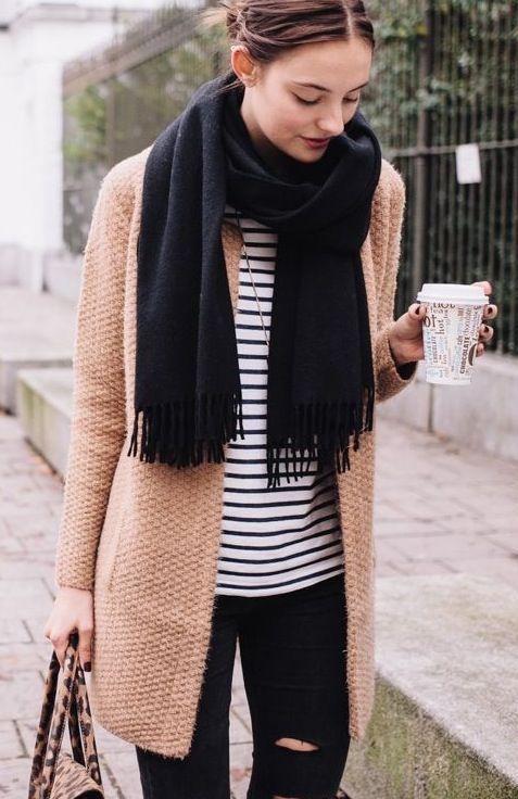 Camel Sweater Coat