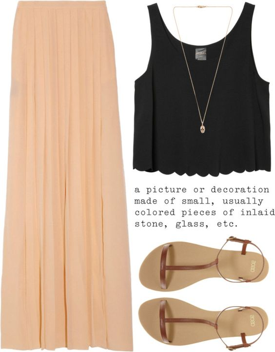 daaf372286a 25 Long Skirt Outfits You will Love - for Summer/Spring/Fall ...