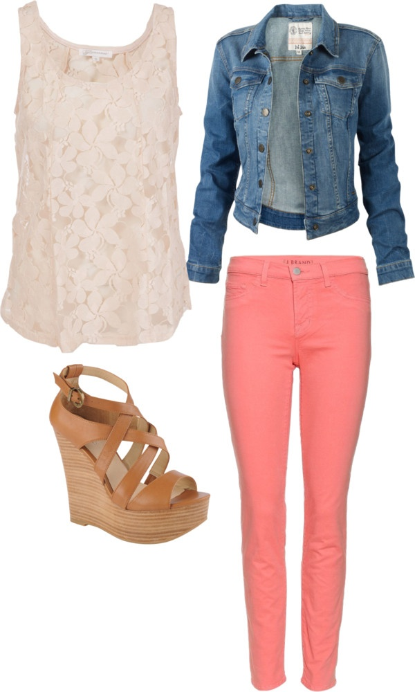 Denim Jacket and Pink Pants