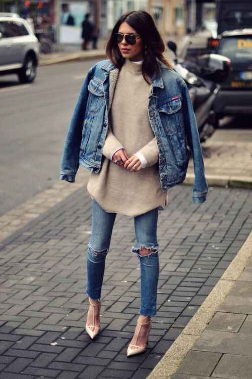 Denim Outfit and Sweater