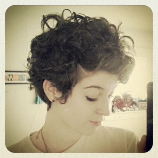 Easy Curly Pixie Hairstyle