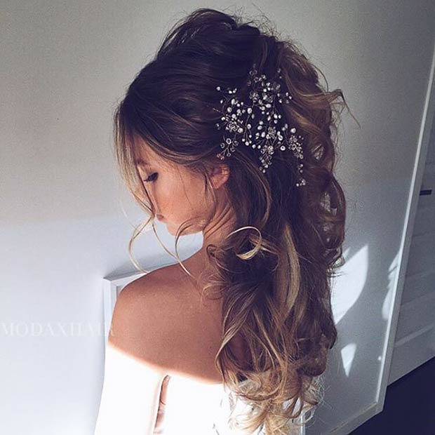 Easy Wedding Hairstyle for Long Hair