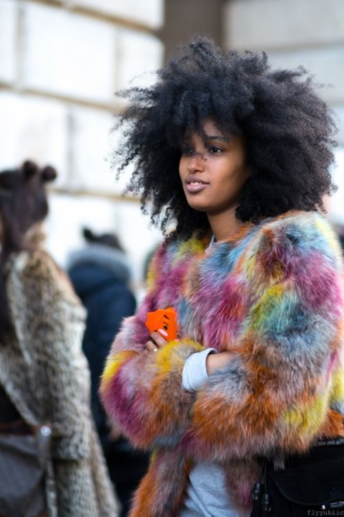 Faux Fur Coat for Black Women