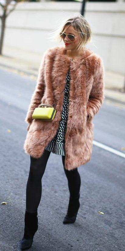 Faux Fur Coat for Your Holiday Look
