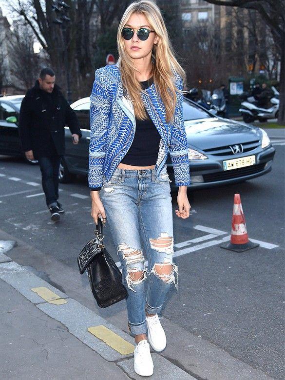 Gigi Hadid's Jean Street Style