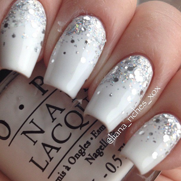 Glitter Wedding Nail Design - 20 Stunning Wedding Nails Designs For 2017 - Wedding Nail Ideas