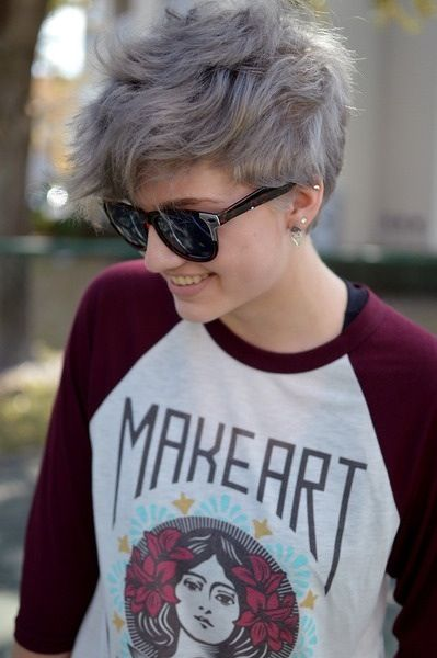 Grey Pixie Hairstyle