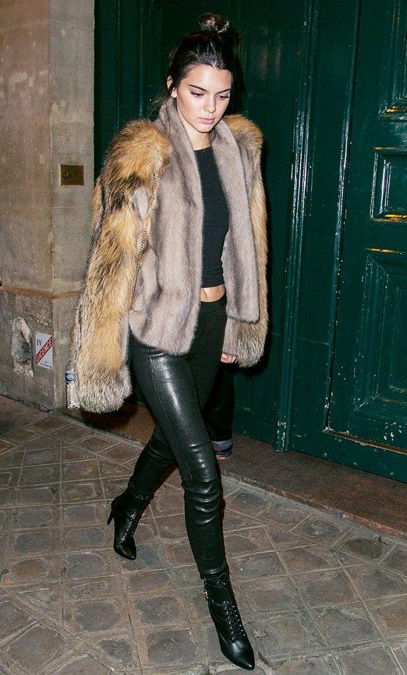 Jendall Jenner Faux Fur Coat