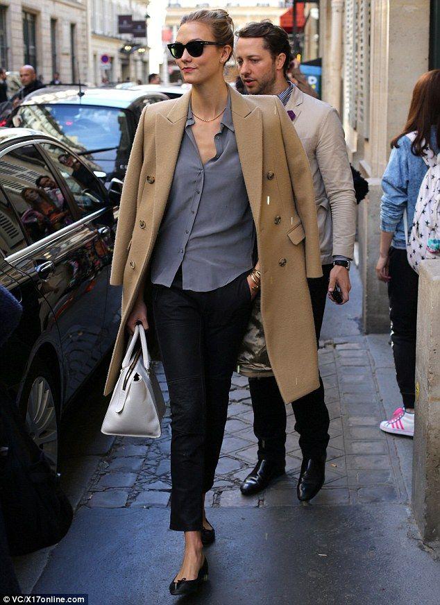 Karlie Kloss' Camel Coat