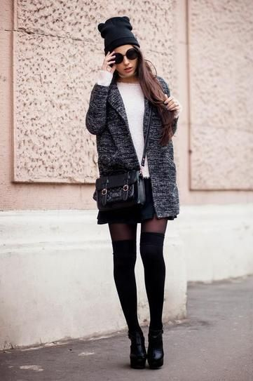 Knee-high Socks and Ankle Boots