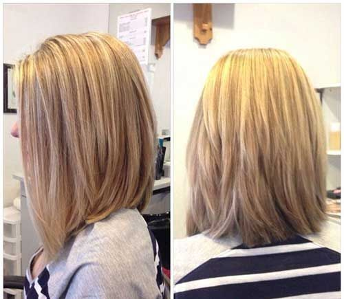 Layered Lob Hairstyle