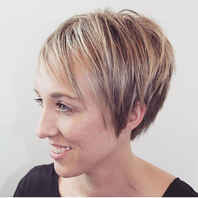 Layered Pixie Haircut for Thin Hair