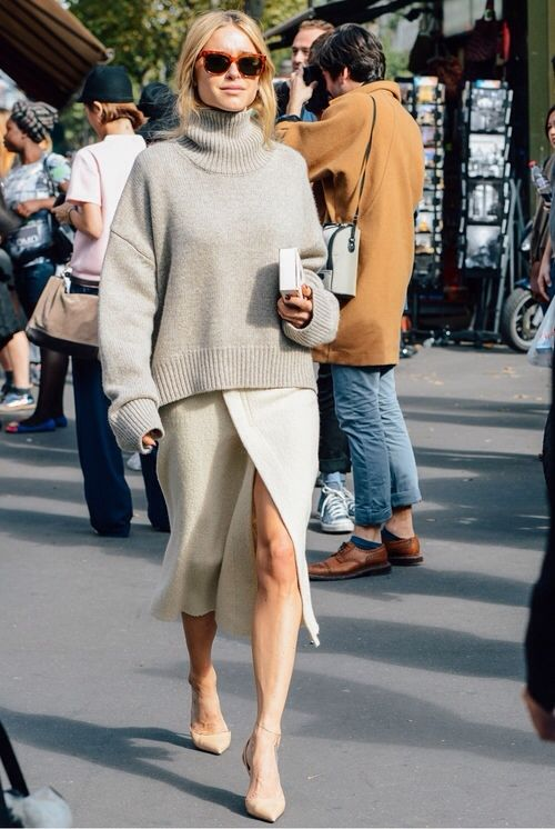 Light Sweater and Long Skirt