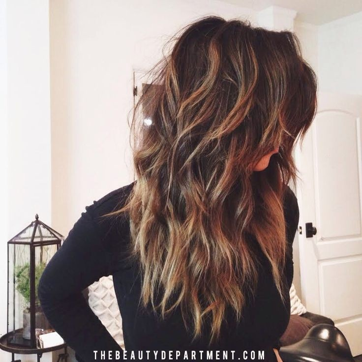 Medium Layered Haircut for Ombre Hair